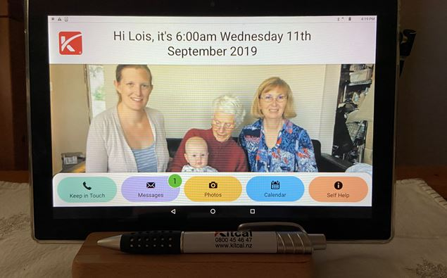 Newstalk ZB – Matamata woman invents simple tablet to keep elderly connected